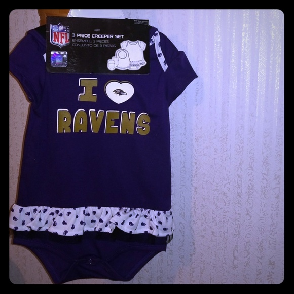 on sale b9249 fdc29 Ravens baby 3 piece clothing set onsi 18-24 month NWT